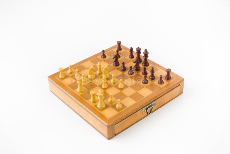 σκάκι χαρτονιών που απομονώνεται στοκ φωτογραφίες