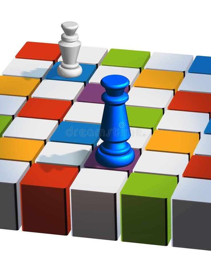 σκάκι χαρτονιών διανυσματική απεικόνιση