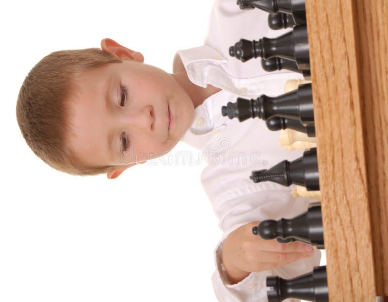 σκάκι 17 αγοριών στοκ εικόνες με δικαίωμα ελεύθερης χρήσης