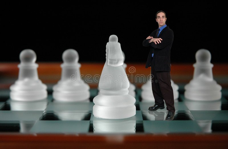 σκάκι 6 επιχειρηματιών στοκ εικόνες