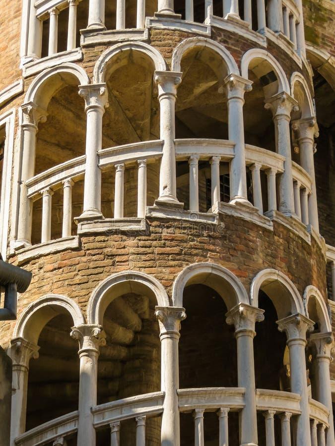 Σκάλα ή Scala Contarini del Bovolo, Βενετία, Ιταλία Bovolo στοκ φωτογραφία με δικαίωμα ελεύθερης χρήσης