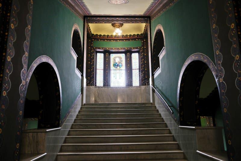 Σκάλα μέσα στο παλάτι του πολιτισμού, Targu Mures στοκ φωτογραφίες με δικαίωμα ελεύθερης χρήσης