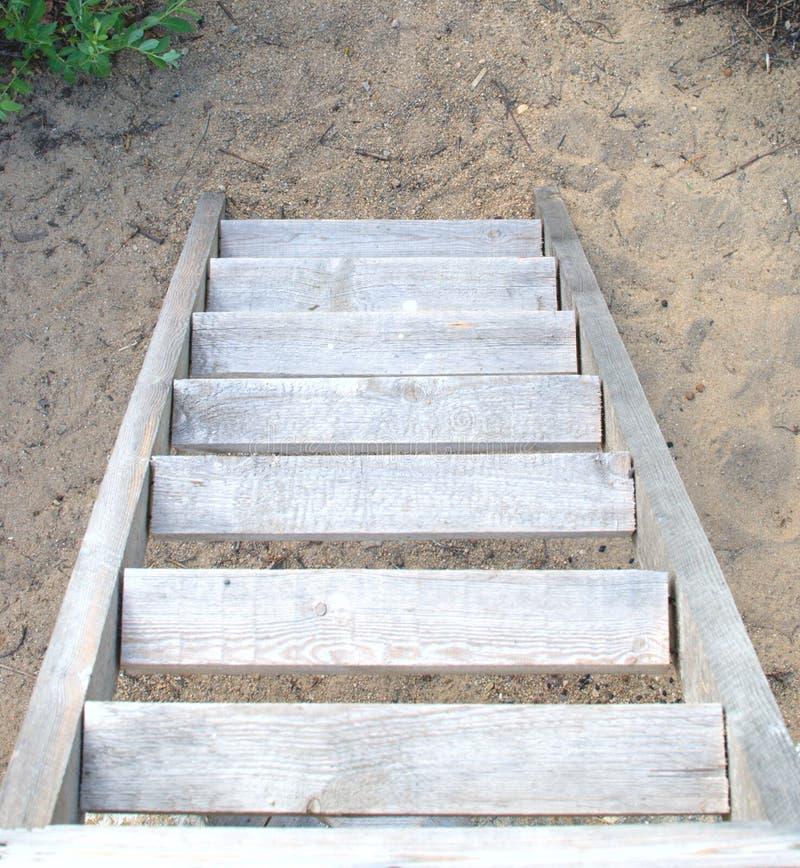 σκάλα ξύλινη στοκ φωτογραφία