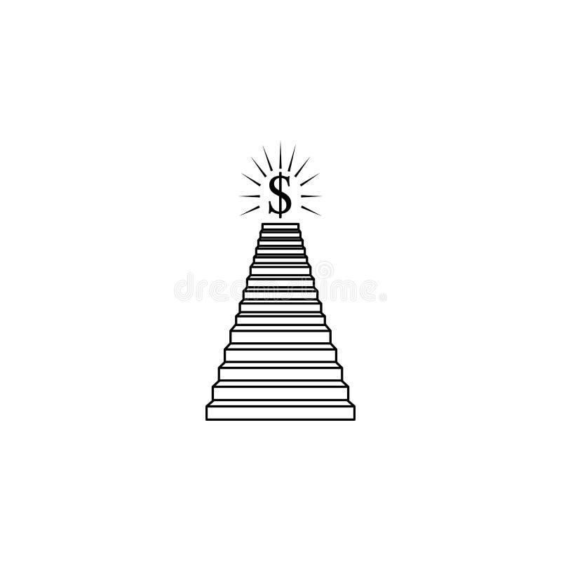 Σκάλα στο εικονίδιο χρημάτων Σκαλοπάτια στο εικονίδιο ζωής μας Γραφικό σχέδιο εξαιρετικής ποιότητας Σημάδια, συλλογή συμβόλων, απ ελεύθερη απεικόνιση δικαιώματος