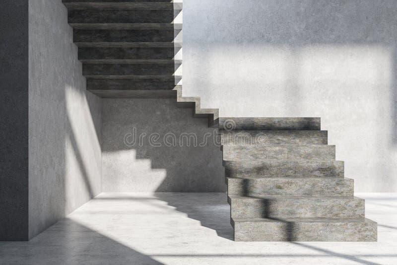 Σκάλα στο κενό δωμάτιο απεικόνιση αποθεμάτων