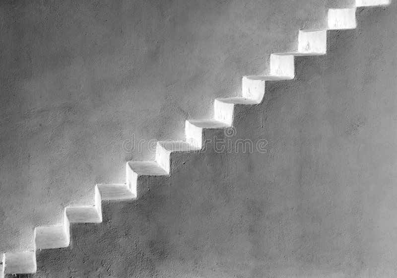Download σκάλα στοκ εικόνα. εικόνα από monotone, βήματα, άσπρος - 1529877