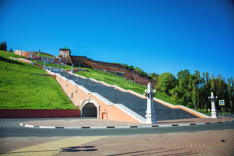 Σκάλα Chkalovskaya σε Nizhny Novgorod στοκ εικόνες