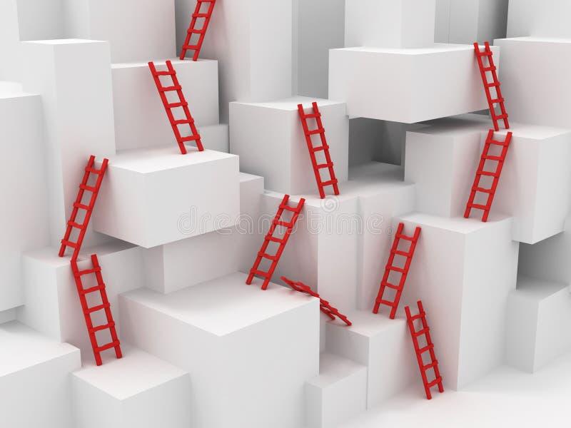 σκάλες κύβων απεικόνιση αποθεμάτων