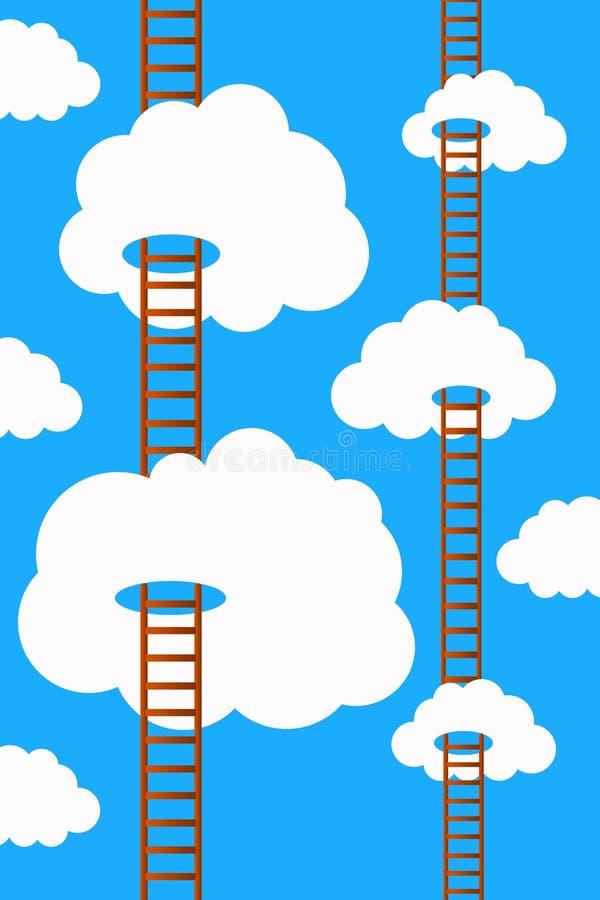 Σκάλες ουρανού ελεύθερη απεικόνιση δικαιώματος
