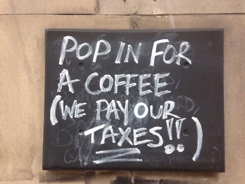 Σκάστε μέσα για τον καφέ στοκ φωτογραφία