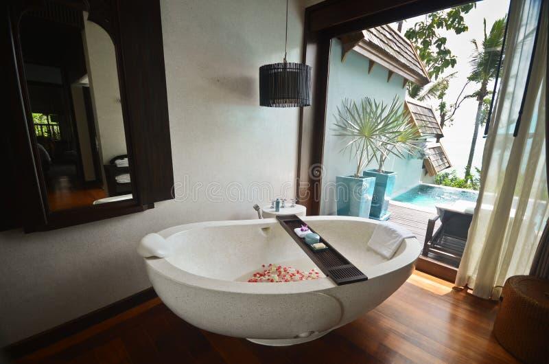 Σκάφη θερέτρου bathroom spa στοκ εικόνες