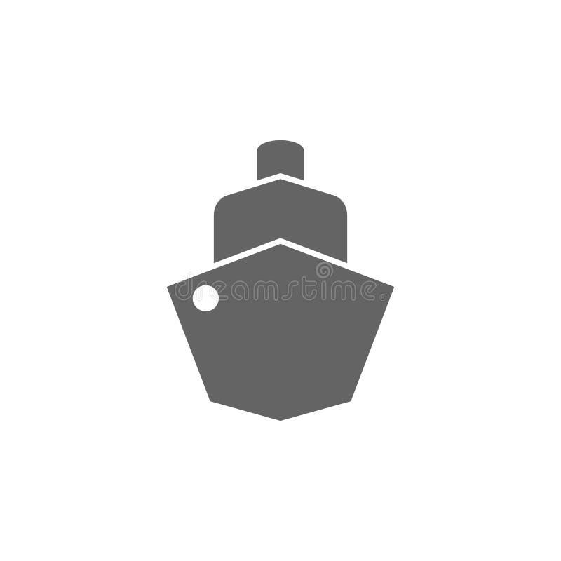 Σκάφος, ατμόπλοιο, εικονίδιο σκαφών Στοιχείο του απλού εικονιδίου μεταφορών r o ελεύθερη απεικόνιση δικαιώματος