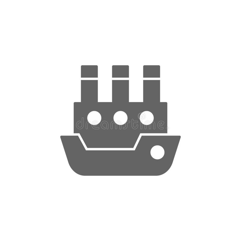 Σκάφος, ατμόπλοιο, ατμόπλοιο, εικονίδιο σκαφών Στοιχείο του απλού εικονιδίου μεταφορών r r διανυσματική απεικόνιση