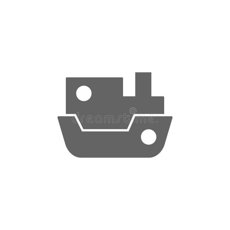 Σκάφος, ατμόπλοιο, ατμόπλοιο, εικονίδιο σκαφών Στοιχείο του απλού εικονιδίου μεταφορών r r ελεύθερη απεικόνιση δικαιώματος
