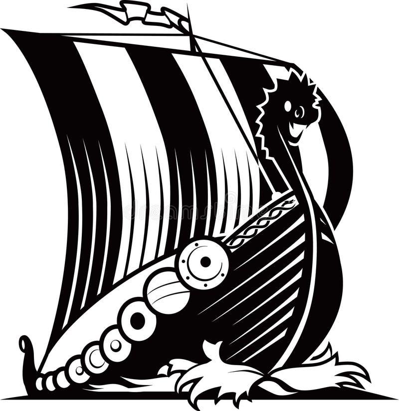 Σκάφος Βίκινγκ διανυσματική απεικόνιση