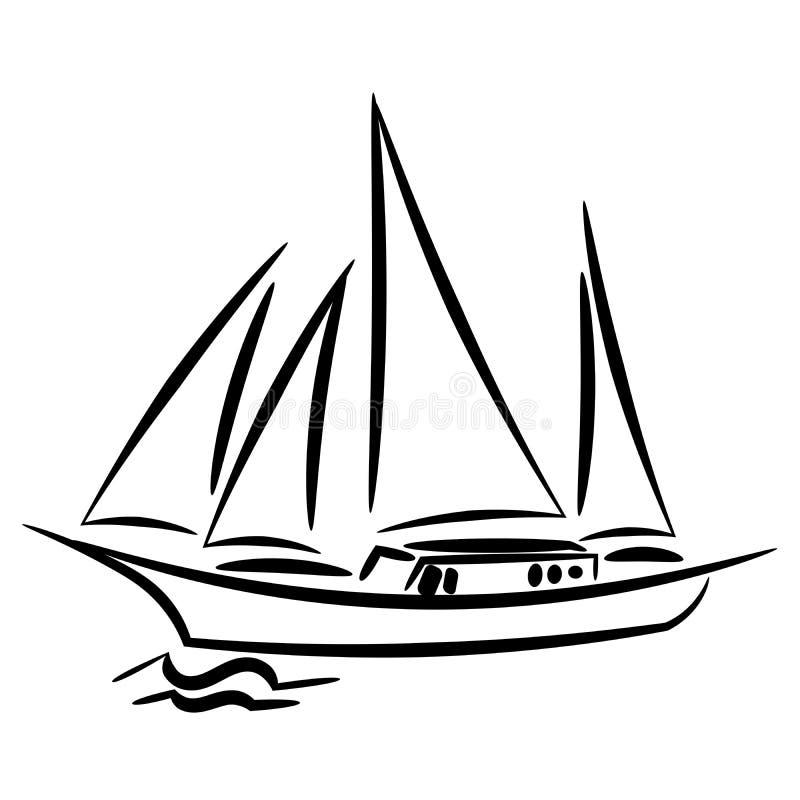 Σκάφος επίσης corel σύρετε το διάνυσμα απεικόνισης απεικόνιση αποθεμάτων