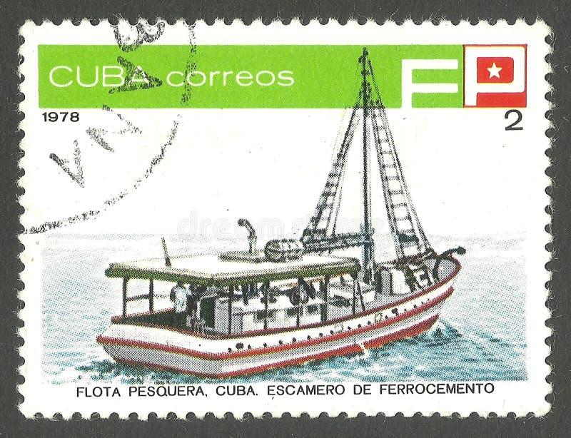 Σκάφος εργοστασίων ψαριών στοκ φωτογραφία