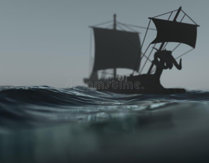 σκάφος θάλασσας στοκ εικόνες με δικαίωμα ελεύθερης χρήσης