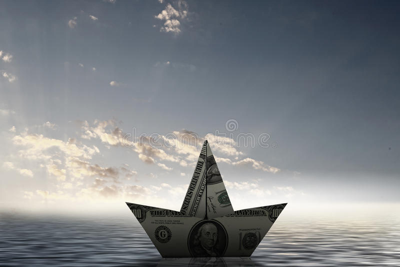 Σκάφος δολαρίων στοκ φωτογραφία με δικαίωμα ελεύθερης χρήσης