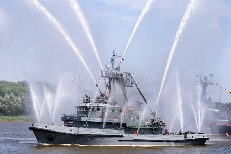 σκάφος πυρκαγιάς στοκ εικόνες
