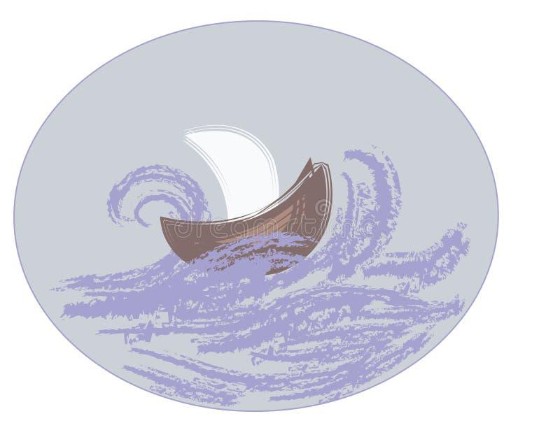 Σκάφος στη θάλασσα στοκ φωτογραφία με δικαίωμα ελεύθερης χρήσης