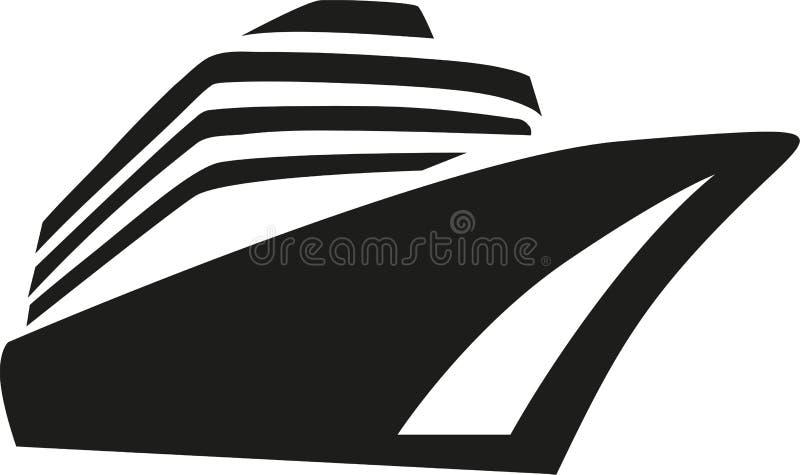 Σκάφος της γραμμής κρουαζιέρας κρουαζιερόπλοιων απεικόνιση αποθεμάτων