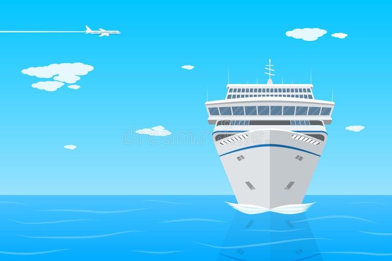 Σκάφος της γραμμής κρουαζιέρας απεικόνιση αποθεμάτων
