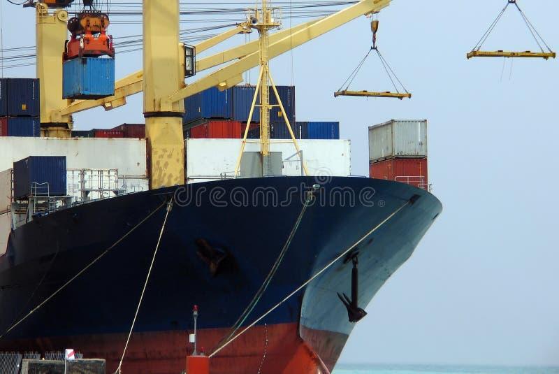 σκάφος 15 σειρών φορτίου στοκ εικόνα με δικαίωμα ελεύθερης χρήσης