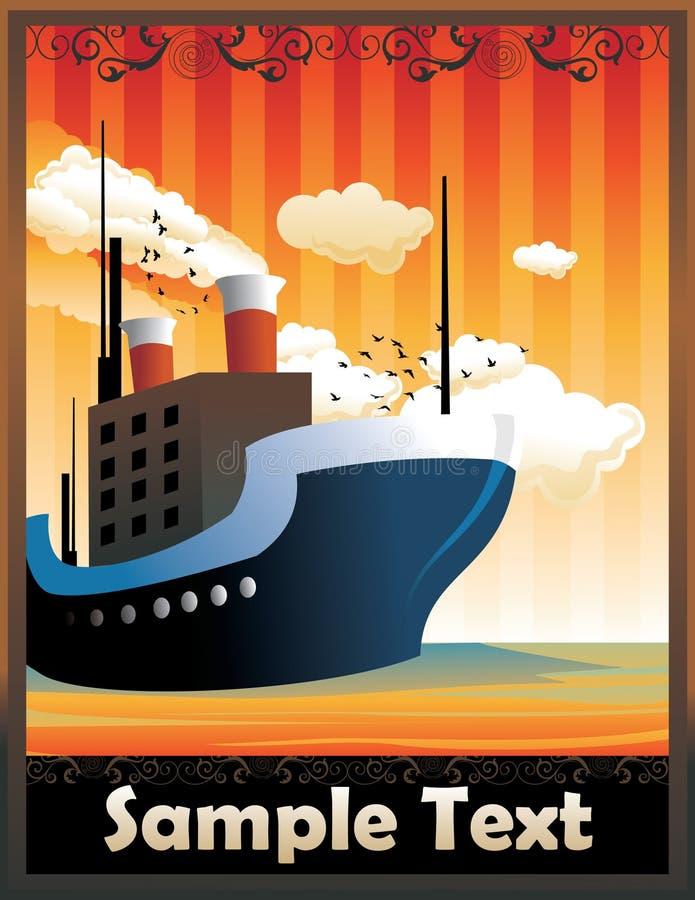 σκάφος deco τέχνης ελεύθερη απεικόνιση δικαιώματος