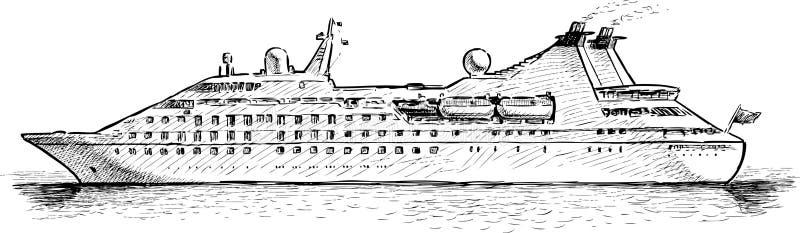 σκάφος luminosa κρουαζιέρας πλευρών απεικόνιση αποθεμάτων