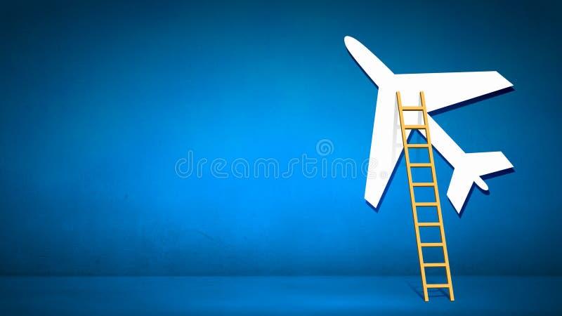 Σκάλα στο αεροπλάνο στοκ εικόνες