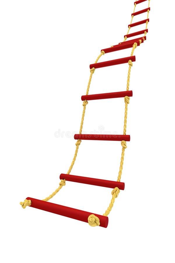 Σκάλα σχοινιών διανυσματική απεικόνιση