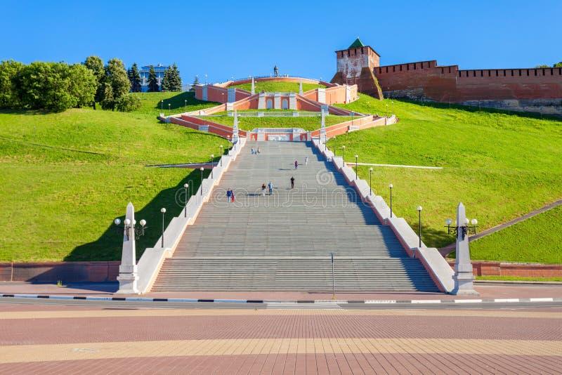 Σκάλα Chkalov, Nizhny Novgorod στοκ εικόνες