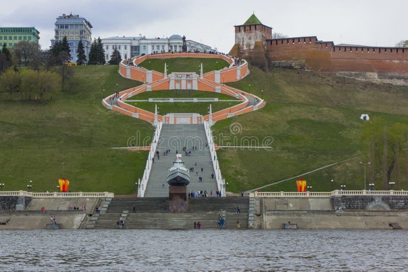 Σκάλα Chkalovskaya σε Nizhny Novgorod στοκ φωτογραφίες με δικαίωμα ελεύθερης χρήσης