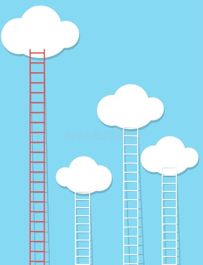Σκάλες που φθάνουν στον ουρανό ελεύθερη απεικόνιση δικαιώματος