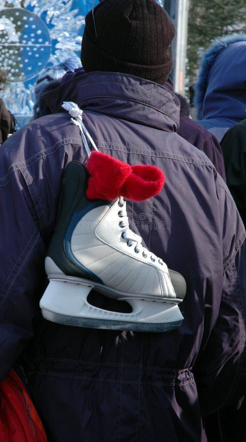 σκέιτερ ατόμων πάγου Στοκ φωτογραφία με δικαίωμα ελεύθερης χρήσης
