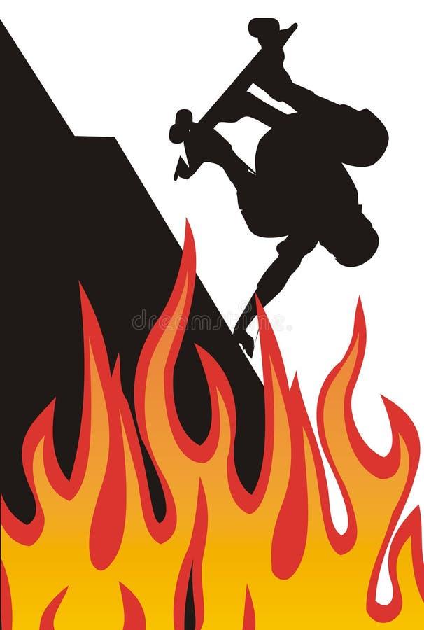 σκέιτερ πυρκαγιάς ελεύθερη απεικόνιση δικαιώματος