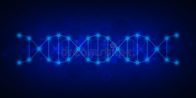 Σκέλος DNA και μοριακή δομή Γενετική εφαρμοσμένη μηχανική ή εργαστηριακή έρευνα Σύσταση υποβάθρου για ιατρικό ή διανυσματική απεικόνιση