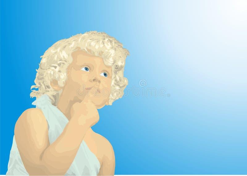 Σκέψη αγοριών απεικόνιση αποθεμάτων