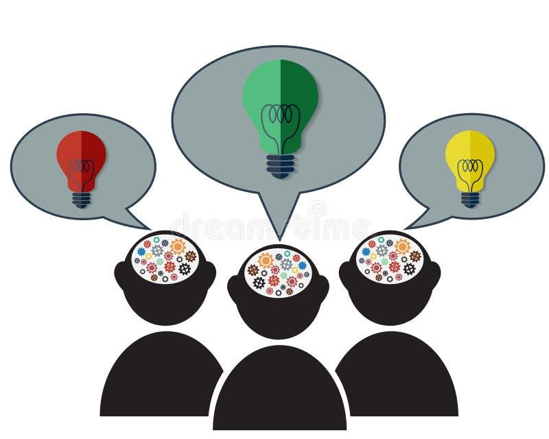 Σκέψη για την έννοια ιδέας ελεύθερη απεικόνιση δικαιώματος