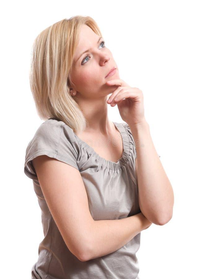 Σκέψη γυναικών στοκ φωτογραφία