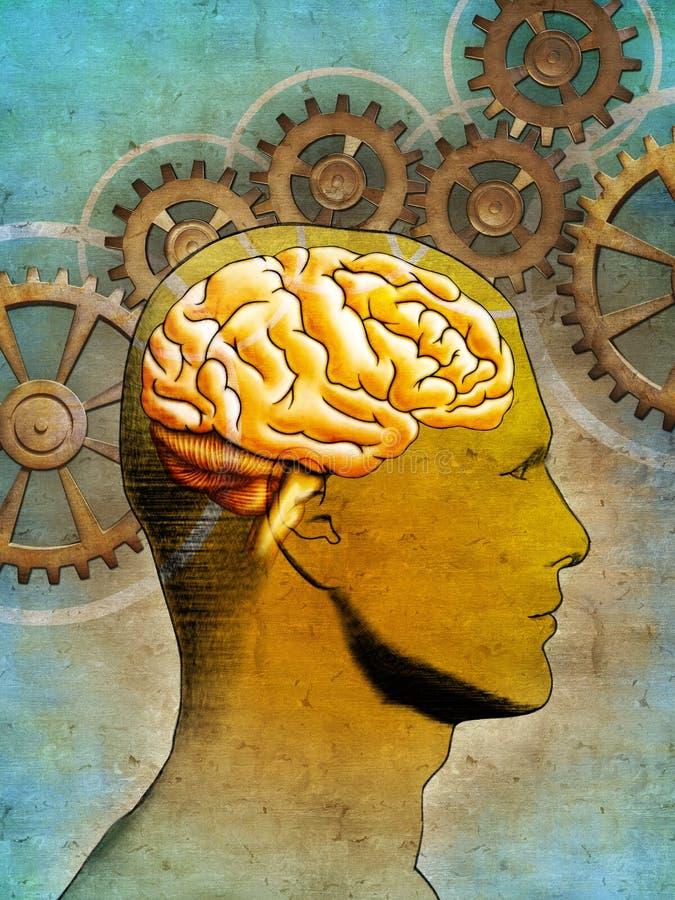 σκέψη εγκεφάλου ελεύθερη απεικόνιση δικαιώματος