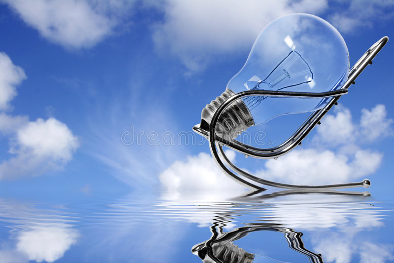σκέψη μπλε ουρανού στοκ εικόνα με δικαίωμα ελεύθερης χρήσης