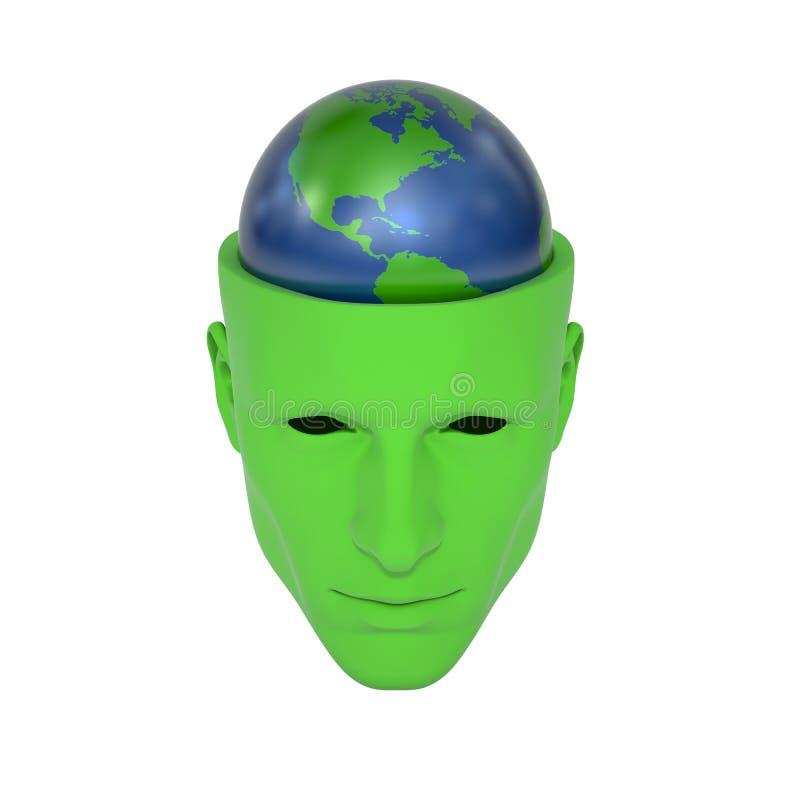 Σκέψη πράσινος στοκ φωτογραφίες