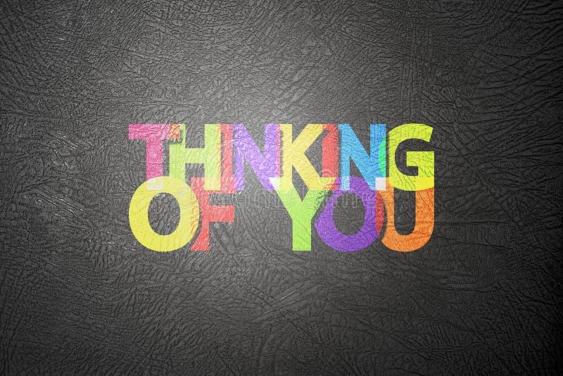 Σκέψη σας - κάρτα διανυσματική απεικόνιση
