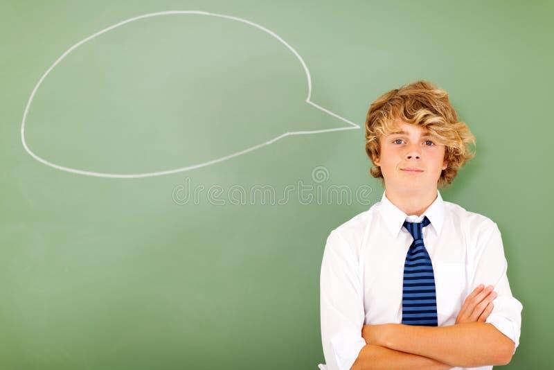 Σκέψη σχολικών αγοριών στοκ εικόνες με δικαίωμα ελεύθερης χρήσης