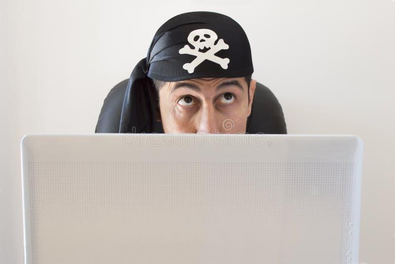 Σκέψη χάκερ στοκ φωτογραφία με δικαίωμα ελεύθερης χρήσης