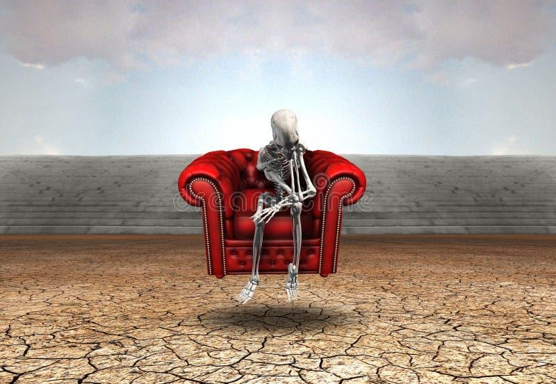Σκέψη ελεύθερη απεικόνιση δικαιώματος