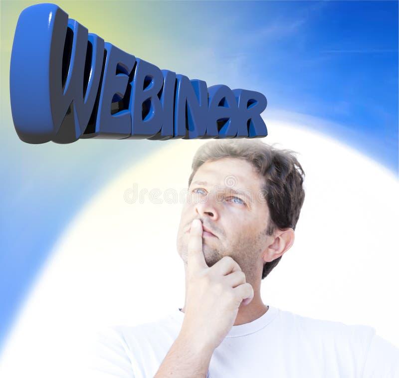 Σκέψη Webinar στοκ εικόνες με δικαίωμα ελεύθερης χρήσης