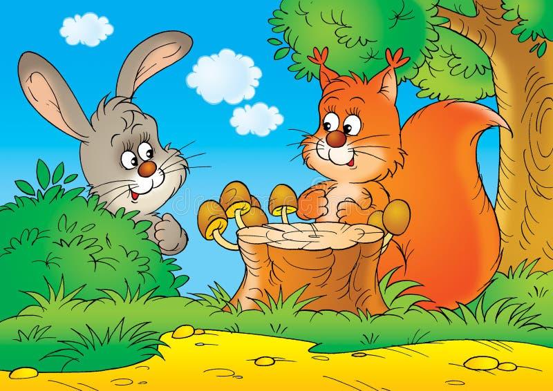 σκίουρος κουνελιών ελεύθερη απεικόνιση δικαιώματος